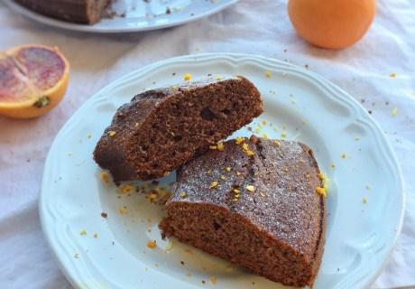 ciambella al cioccolato e arancia