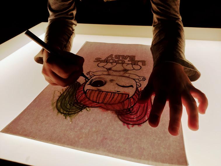 świetlny stolik rysunki
