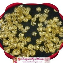 10mm Bead Caps Filigree Flowers