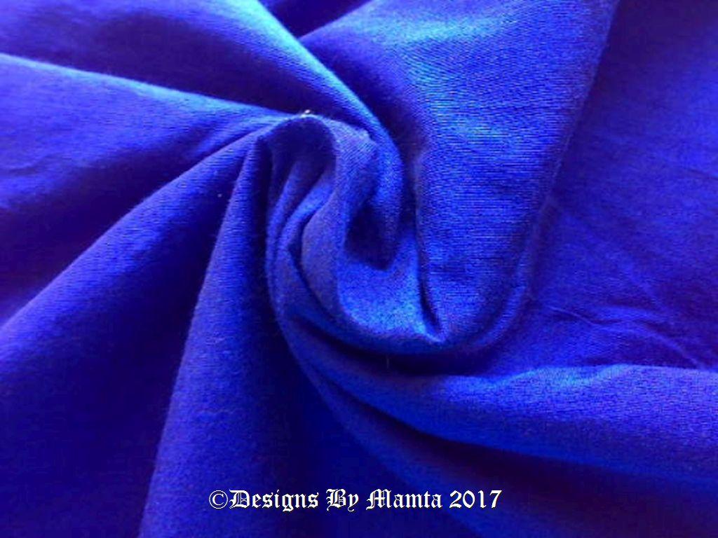 Bright Royal Blue Art Silk Fabric