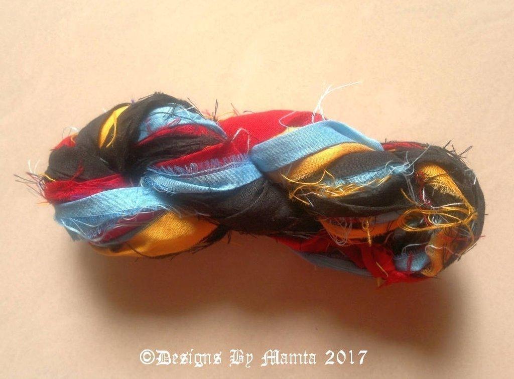 Broadbill Bird Silk Sari Yarn Ribbon