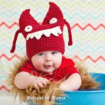 Crochet Halloween Monster Hat Pattern