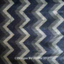 Dark Blue Chevron Ajrakh Print Fabric