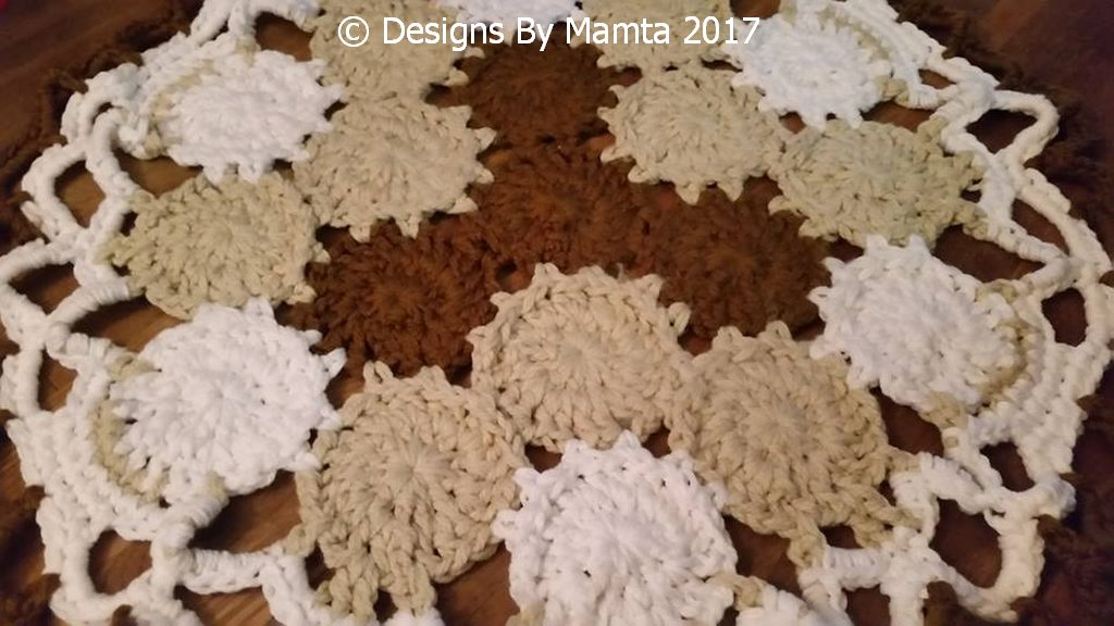 Earth Mandala Crochet Rug Pattern