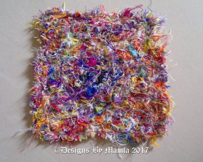 Fabric made with thread scraps