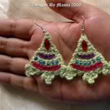 Fern Mountain Crochet Earrings Pattern