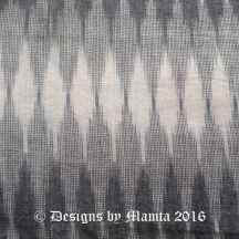 Grey Ikat Fabric By The Yard