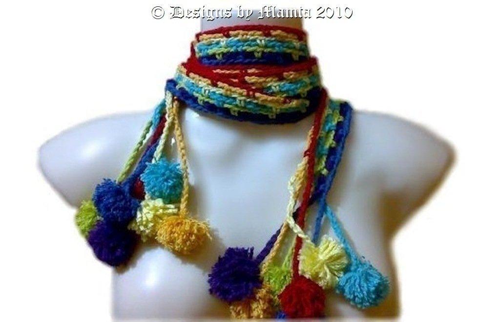 Hippie Chic Crochet Scarf