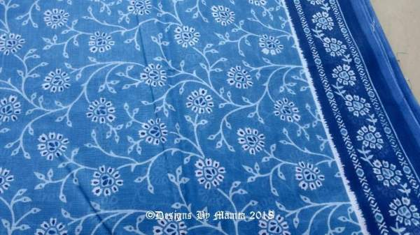 Indian Block Print Fabric By The Yard
