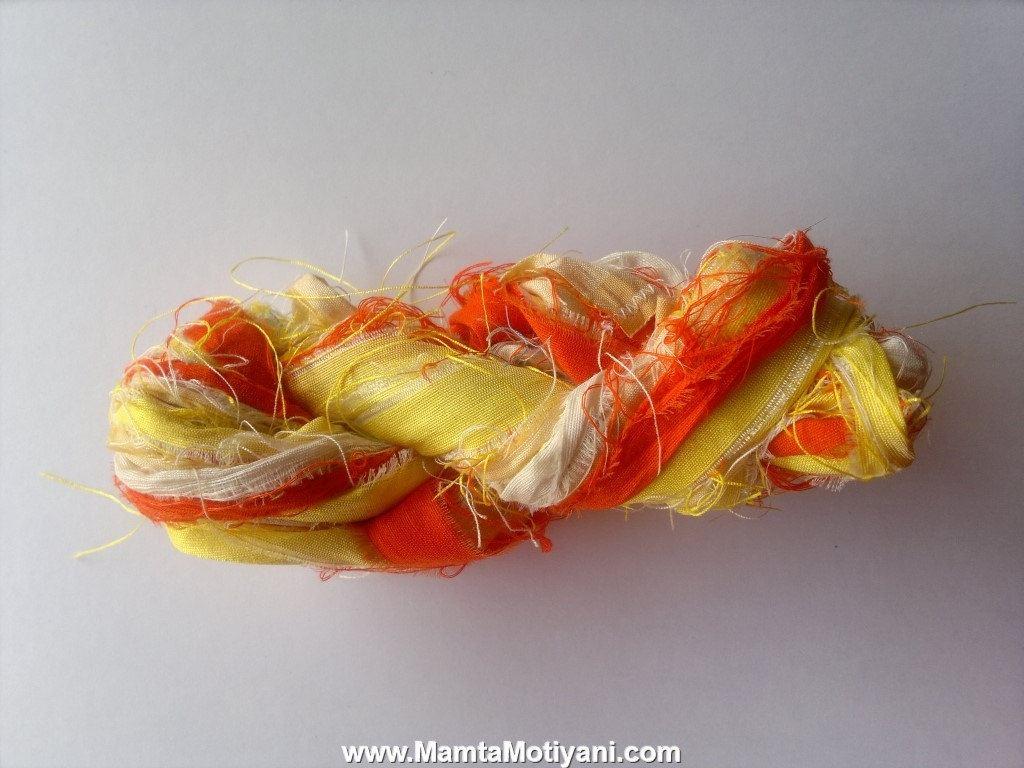 Lady Gouldian Finch Silk Ribbon Yarn