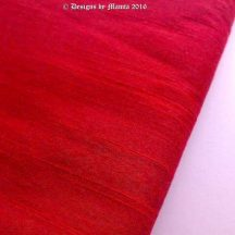 Lust Red Silk Dupioni Fabric