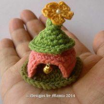 Miniature Crochet Gnome House