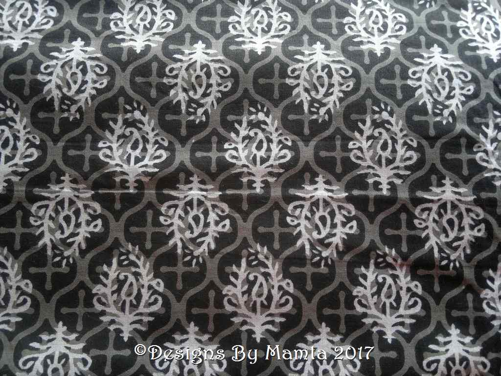 Paisley Print Black Fabric