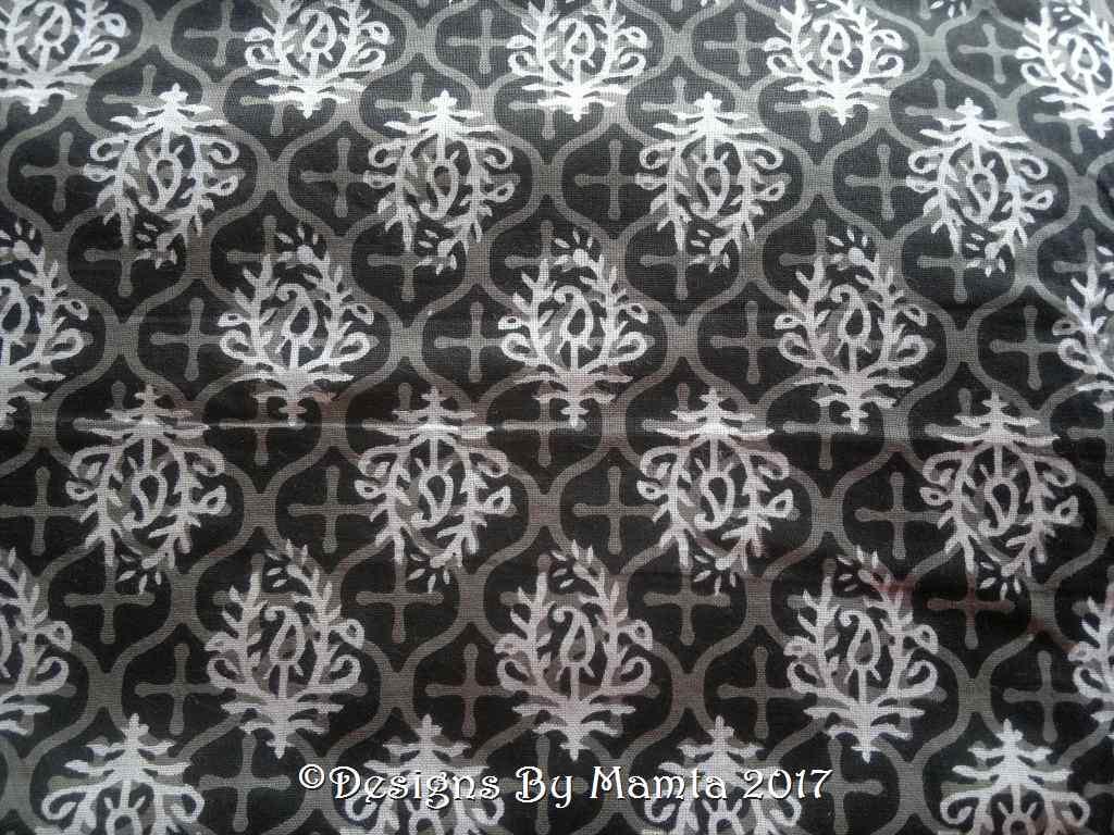 Paisley Print Black Fabric