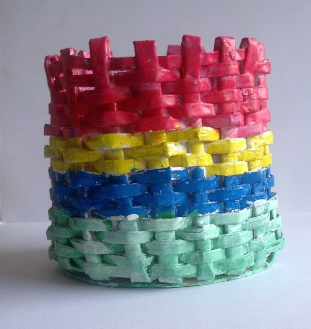 Recycled Paper Round Basket