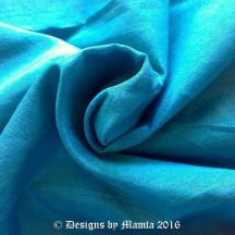 Vibrant Teal Blue Silk Dupioni Fabric