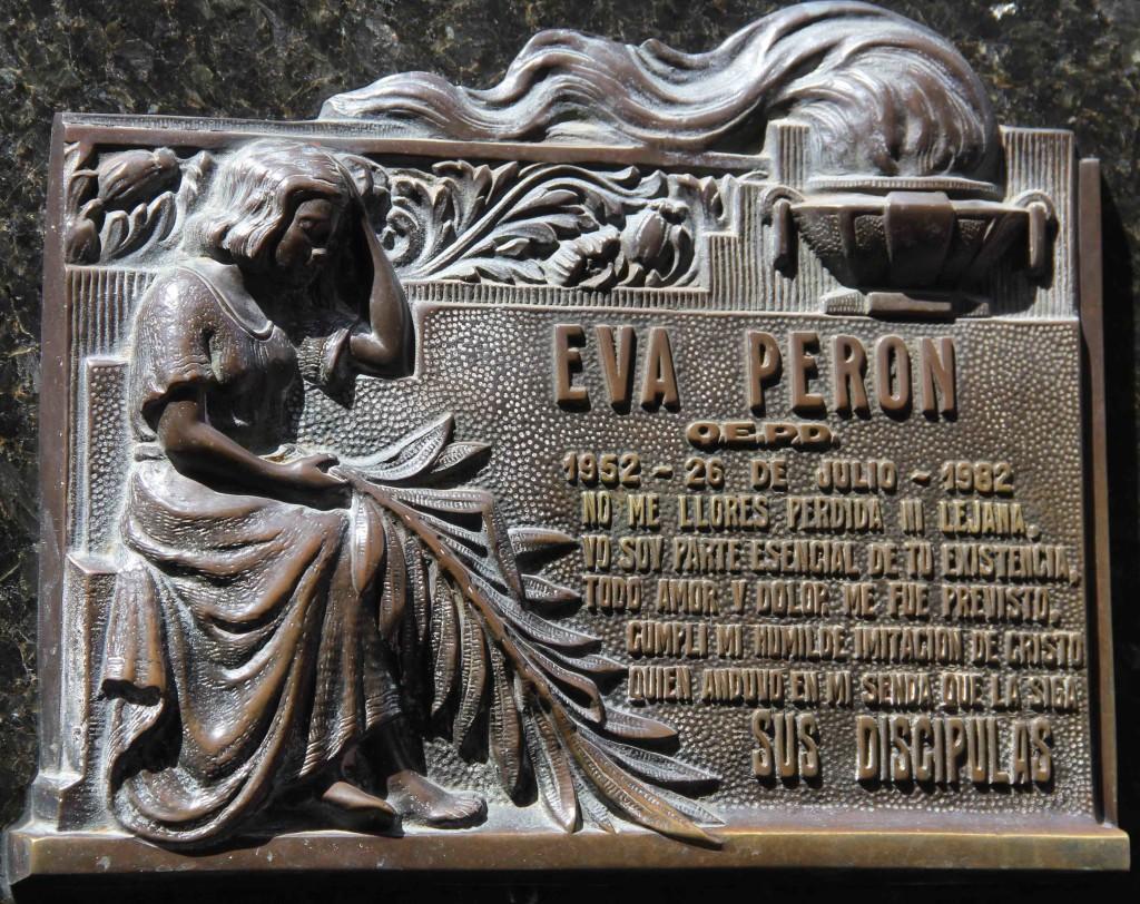 Eva Peron La Recoleta Buenos Aires