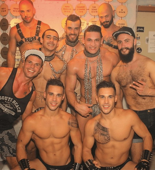 La Demence in Brussels is one of Europe's hottest parties, as seen in ManAboutWorld gay travel magazine
