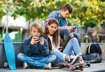 Teens-using-Facebook