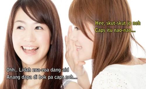 Bahasa Manado Gaul, Bahasa Prokemnya Manado
