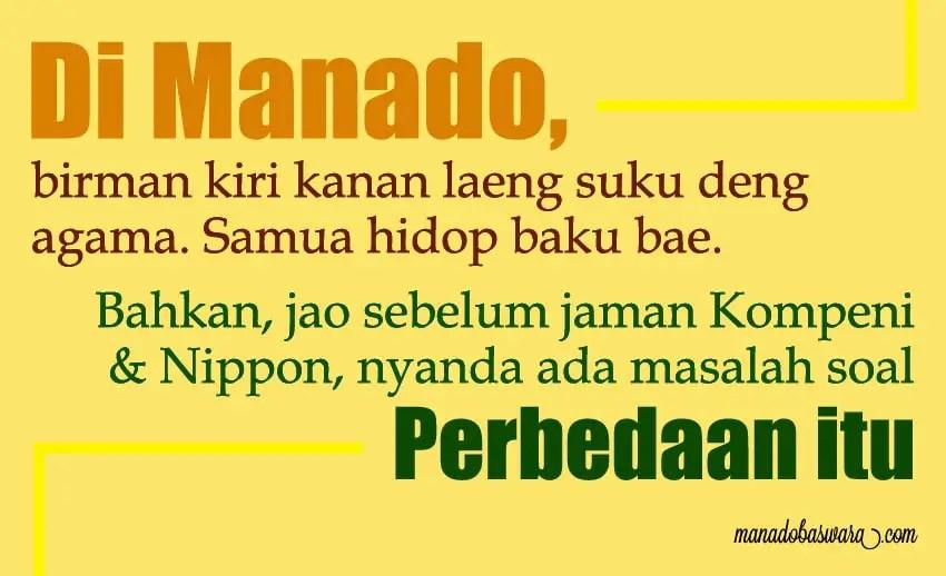 status bahasa manado tentang persatuan indonesia