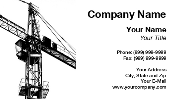 Equipment Operator Business Cards