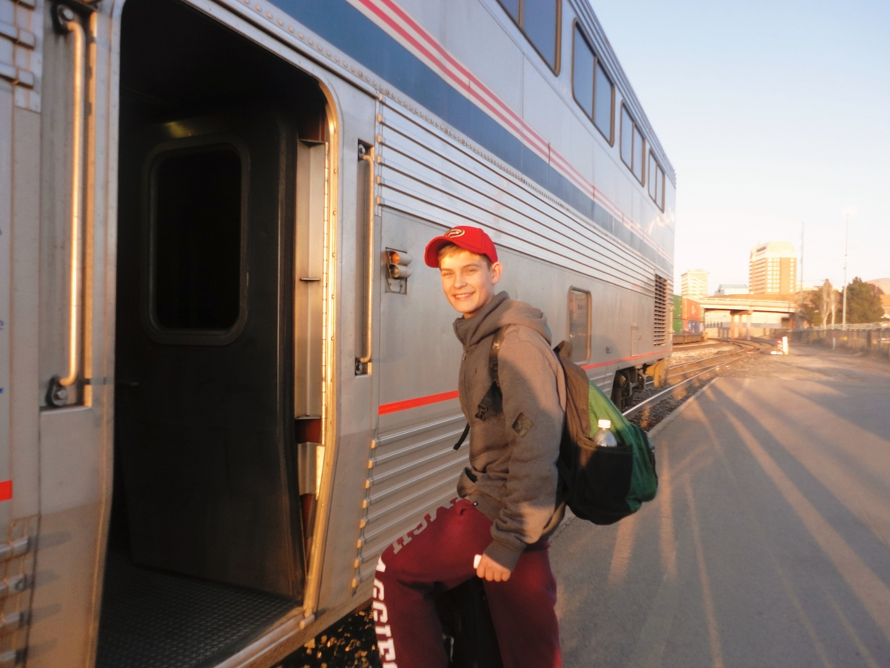 An Amtrak Train Trip Vacation Viewed By My Teenager