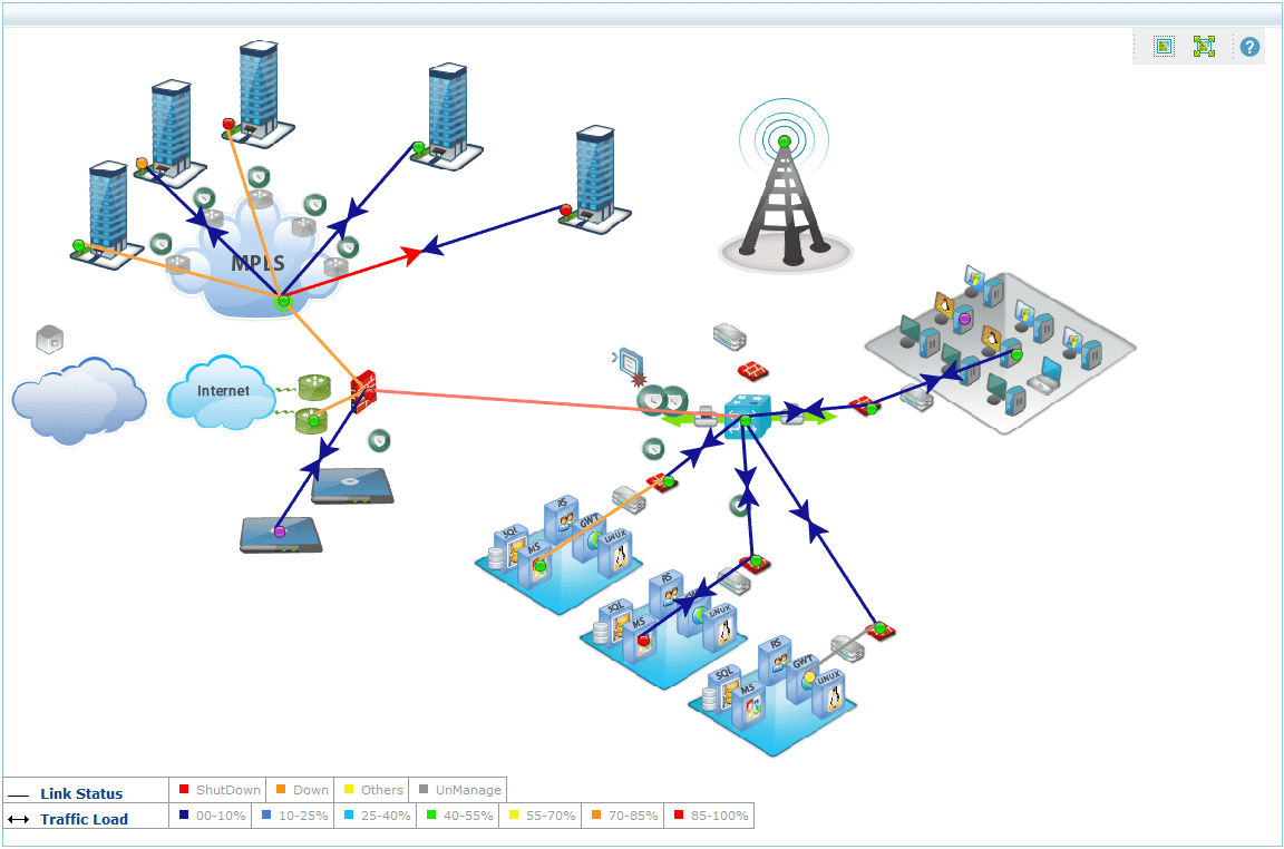 hight resolution of enterprise private network map