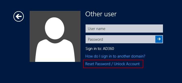 Self-Service Password Reset/Account Unlock via Windows Logon (CTRL+ALT+DEL  screen) using GINA/CP Password Management Functionality - ADSelfService  Plus.