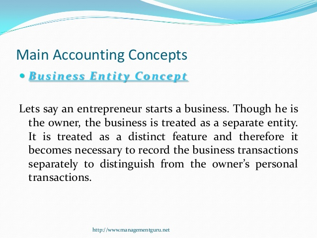 main accounting concepts