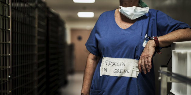 FRANCE-HEALTH-HOSPITAL-STRIKE-SOCIAL
