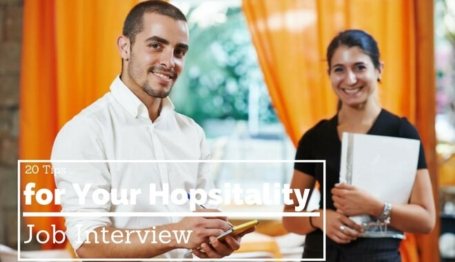 20 Tips to Crush Your Hospitality Job Interview