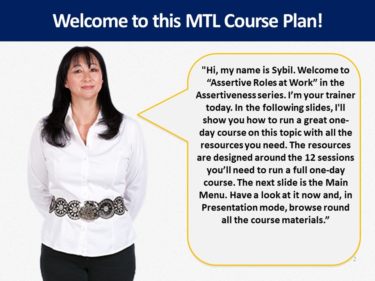 Mtl Course Plans Assertive Roles At Work