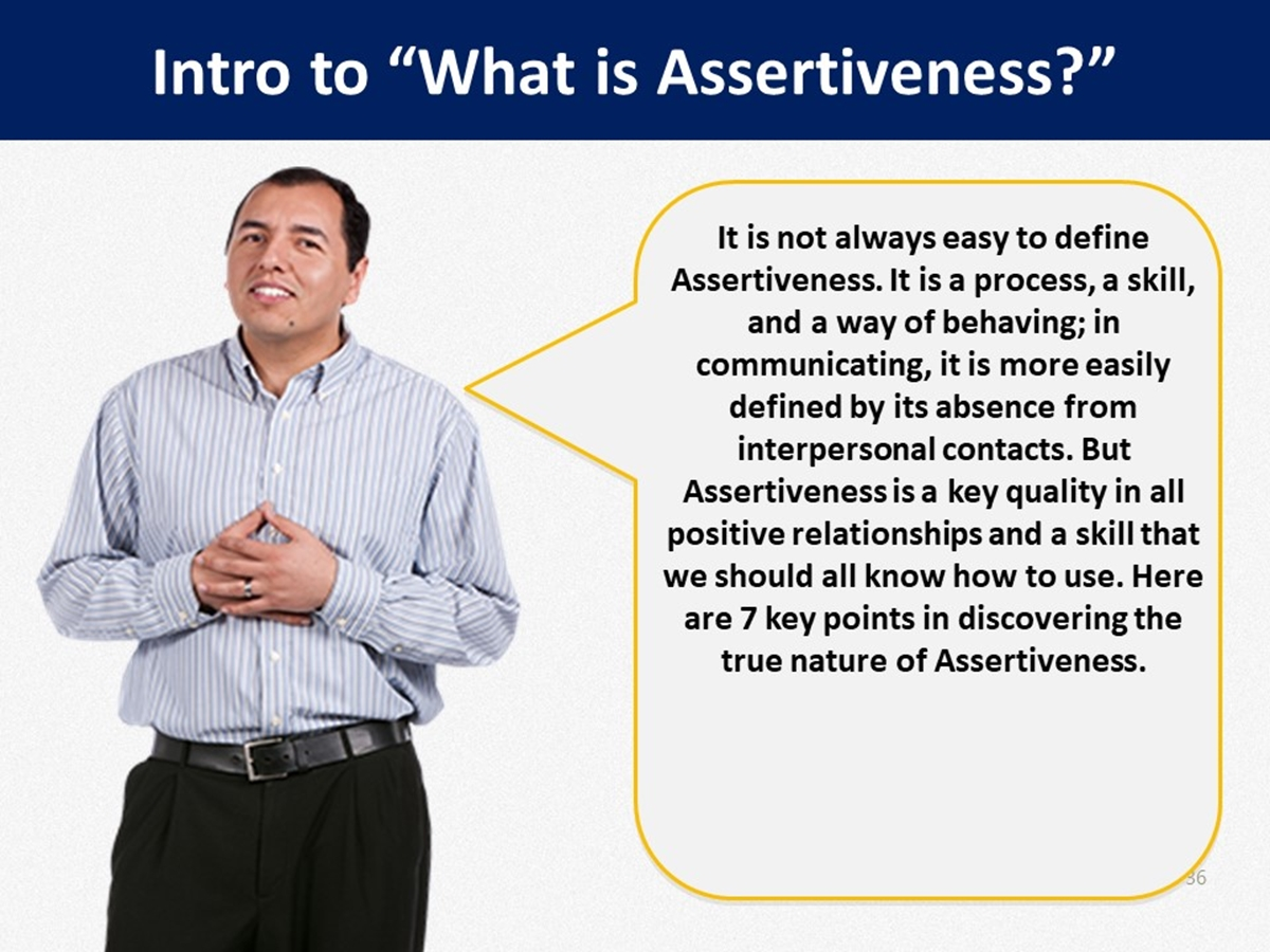 Mtl Course Plans What Is Assertiveness