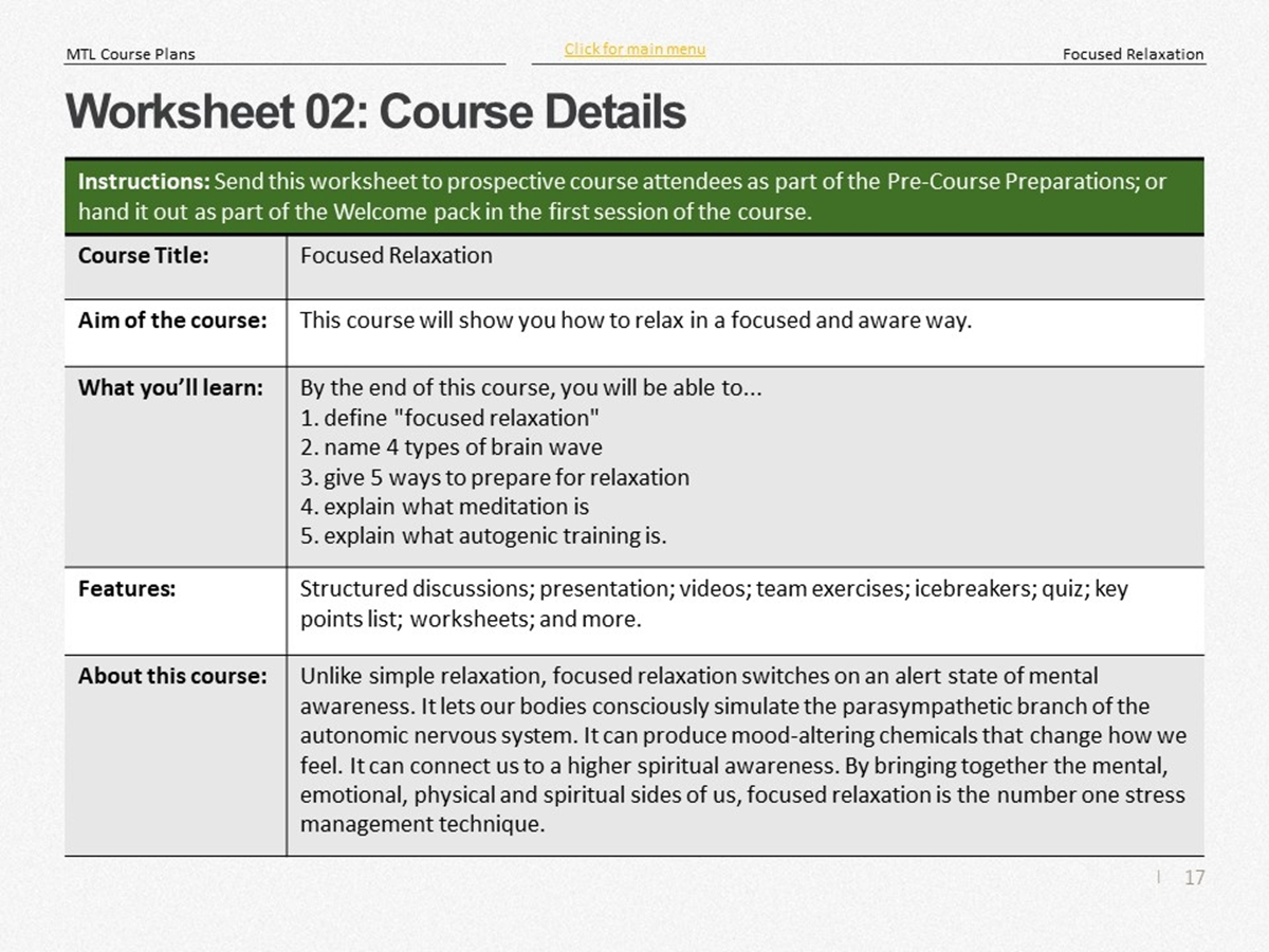 Mtl Course Plans Focused Relaxation