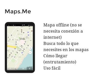 MapsMe. Más info y descarga en http://mapanica.net/mapas-moviles.html