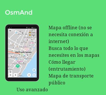 OsmAnd. Más info y descarga en http://mapanica.net/mapas-moviles.html