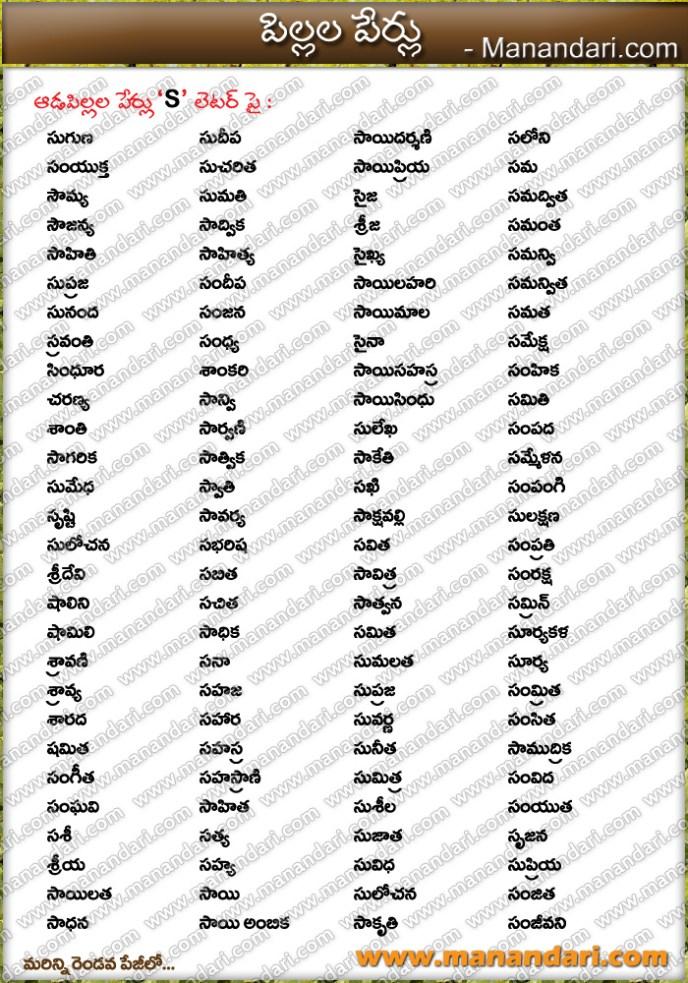 Babu Girl S Letter Names