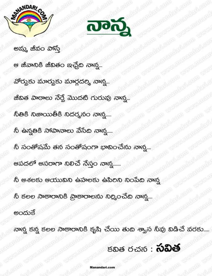 Naanna - Telugu Kavita