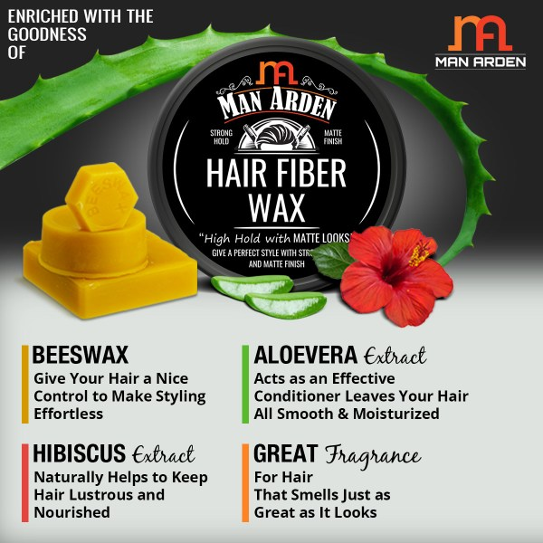 Hair Fiber Wax - Styling with Strong Hold & Matte Finish - 50gm