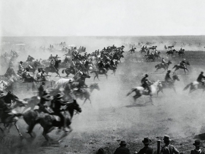 Oklahoma Land Rushm 1893 by William S Prettyman