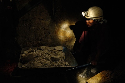 Miner in a mine of the