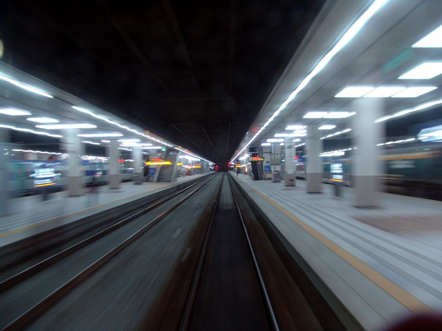 Leaving Yongsan Station. (c) Danleo (CC BY 2.5). Via Wikimedia Commons.