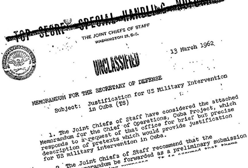 Unclassified top secret document