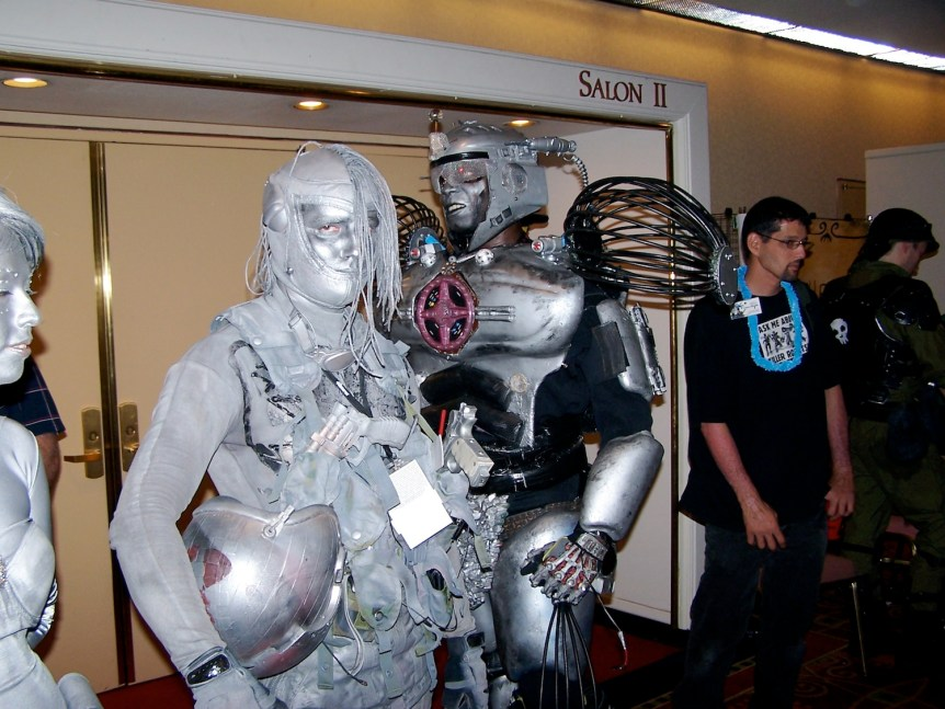 Gray cyborgs at DragonCon in Atlanta. (c) E. Forrest Christian