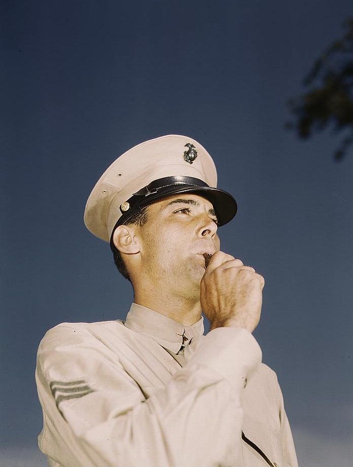 Marine Sgt. at New Orleans, La. By Howard R.Hollem. Library of Congress collection via Flickr.