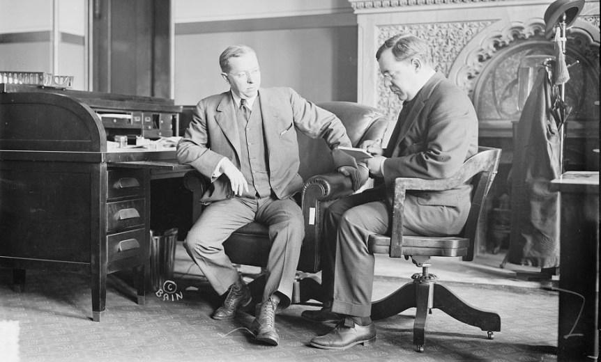 Gov. Martin Henry Glynn with his secretary, Frank Tierney ca. 1913, By Bain News Service via Library of Congress