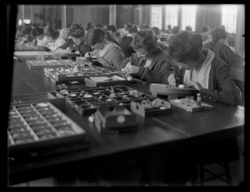 Women workers at Ingersoll Watch Co. By Wm M Vander Weyde, ca. 1900