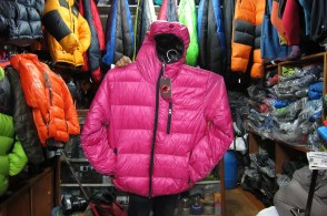 Thin, stitched through, down jacket. $35