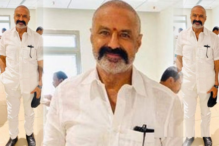 Nandamuri Balakrishna's New Look For Boyapati?-తెల్ల చొక్కా...నల్ల మీసం...